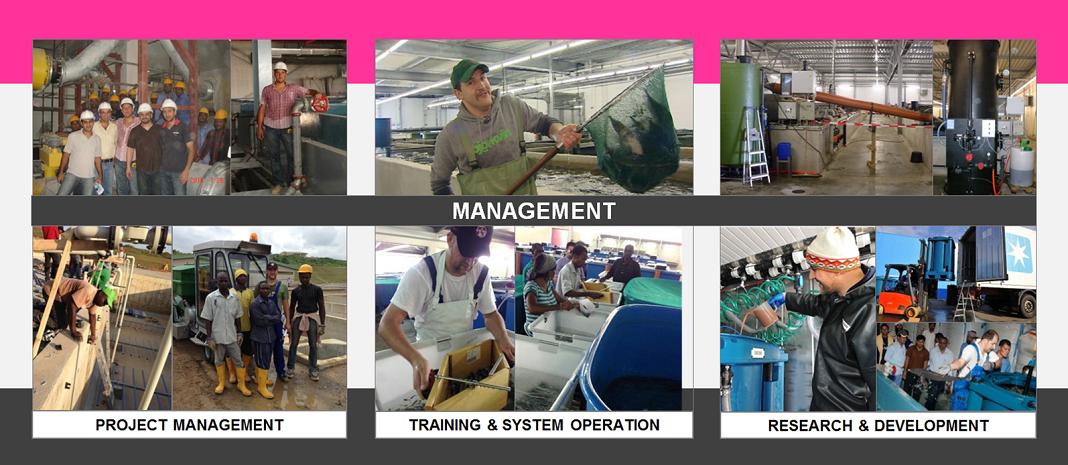 REX-M management aquaculture recirculating aquaculture systems RAS project management site supervision purchase training operation R&D research & development RAS