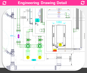 REX-M Engineering Detail RAS 2-D ACAD dwg Machinery, tanks, piping aquaculture pisciculture
