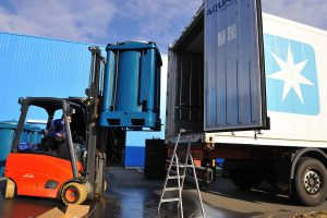 Langzeit Fischtransport long distance fish transport container