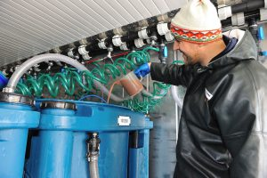 REX-M project management aquaculture RAS operation R&D Kreislaufanlage Inbetriebnahnme Transport AquaOrbis
