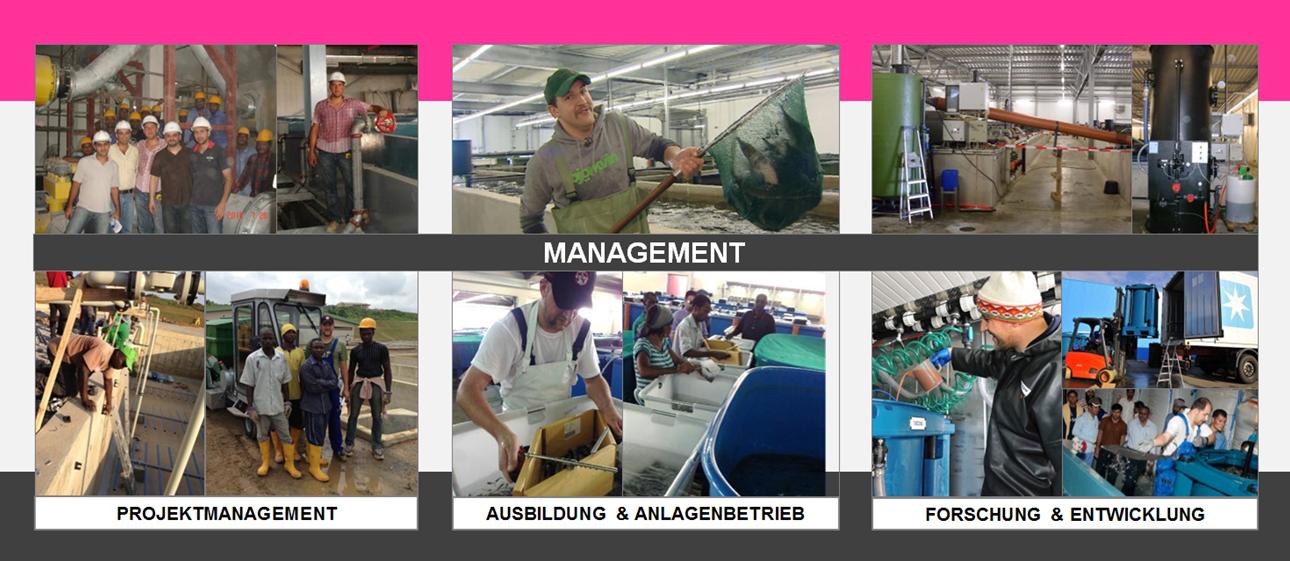 REX-M Management Aquakultur Kreislaufanlage RAS Projektmanagement Einkauf Ausbildung Betrieb Forschung & Entwicklung Einkauf